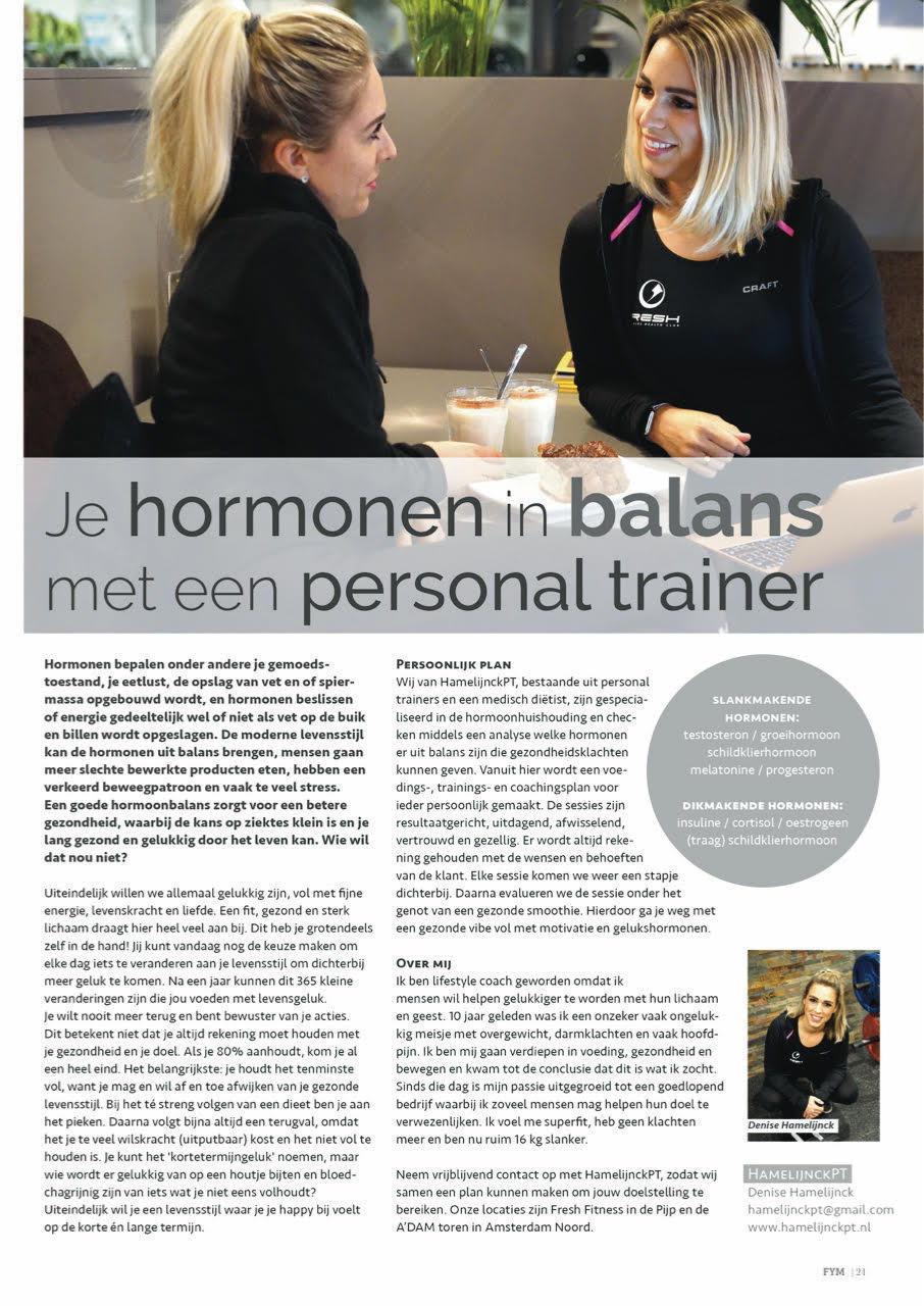 Your hormones in balance with a personal trainer