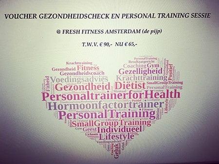 Voucher personal training in Amsterdam